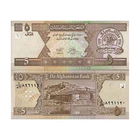 Billet de banque Afghanistan Pk N° 66 - 5 Afghanis