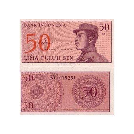 Indonesie - Pk N° 94 - Billet de 50 Sen