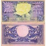 Bello banconote indonesia Pick numero 65 - 5 Rupiah