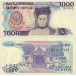 Sammlung von Banknoten indonesien Pick Nummer 124 - 1000 Rupiah