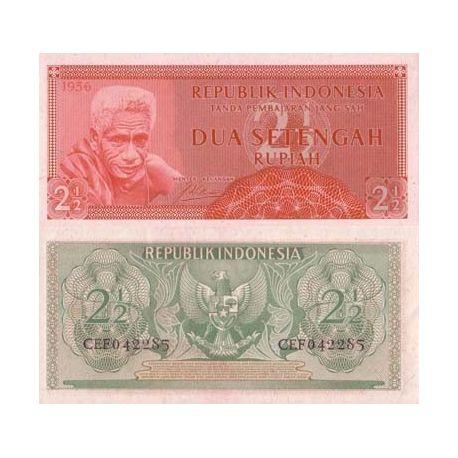 Billets banque Indonesie Pk N° 75 - 2/1/2 Rupiah