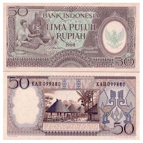 Billet de collection Indonesie Pk N° 96 - 50 Rupiah