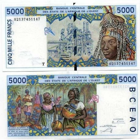 Billets de collection Billets collection Afrique De L'ouest Togo Pk N° 813 - 5000 Francs Billets du Togo 36,00 €