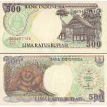 Collection of Banknote indonesia Pick number 128 - 500 Rupiah