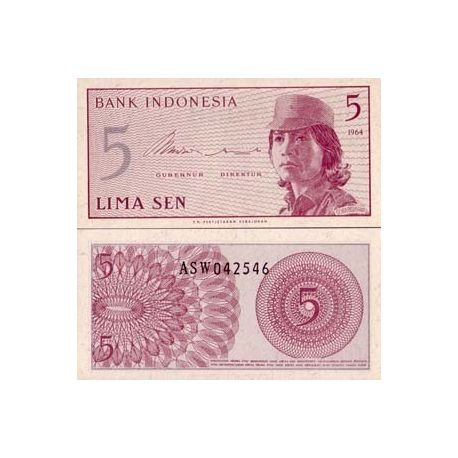 Indonesie - Pk N° 91 - Billet de 5 Sen