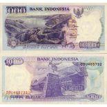 Banknoten Sammlung indonesien Pick Nummer 129 - 1000 Rupiah