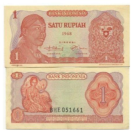 Billets de banque Indonesie Pk N° 102 - 1 Rupiah