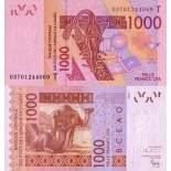Banknote Togo Pick number 815 - 1000 FRANC 2003