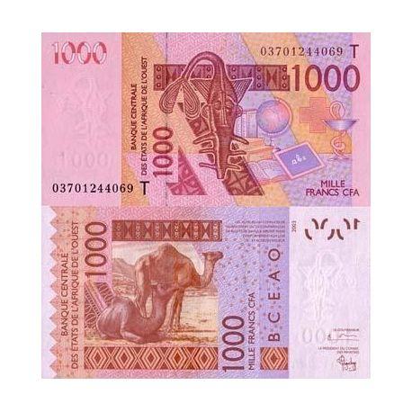 Billet de collection Afrique De L'ouest Togo Pk N° 815 - 1000 Francs