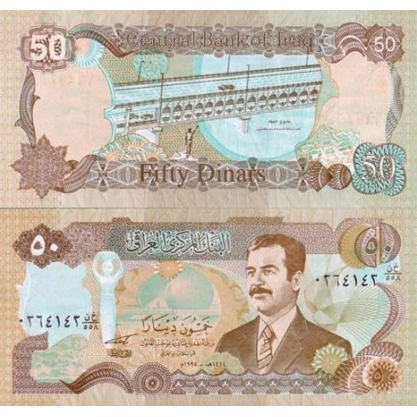 Billets de collection Billet de collection Irak Pk N° 83 - 50 Dinars Billets d'Irak 5,50 €