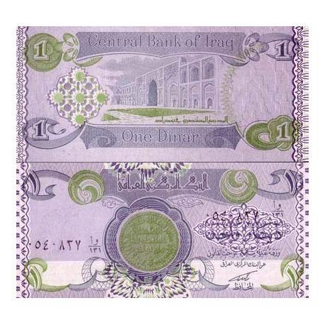 Billets de collection Billet de banque Irak Pk N° 69 - 1 Dinars Billets d'Irak 1,50 €