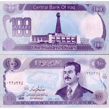 Billets de collection Billets collection Irak Pk N° 84 - 100 Dinars Billets d'Irak 2,50 €
