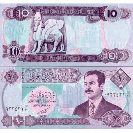 Billets de collection Billet de banque Irak Pk N° 81 - 10 Dinars Billets d'Irak 5,00 €