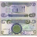 Precioso de billetes irak Pick número 79 - 1 Dinar