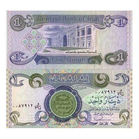 Billets de collection Billets banque Irak Pk N° 79 - 1 Dinar Billets d'Irak 1,50 €
