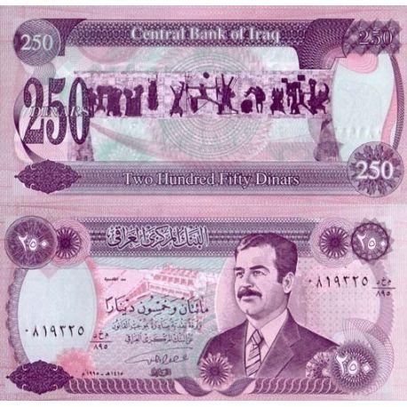 Billets de collection Billets de banque Irak Pk N° 85 - 250 Dinars Billets d'Irak 2,50 €