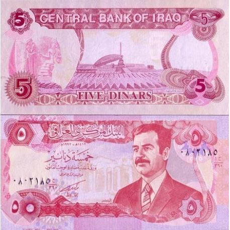 Billets de collection Billets collection Irak Pk N° 80 - 5 Dinars Billets d'Irak 1,50 €
