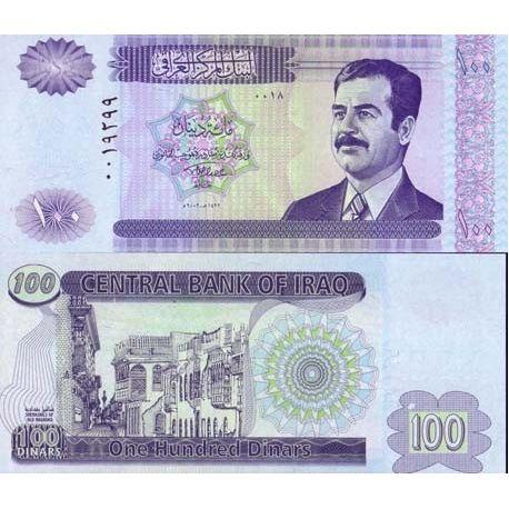 IRAK - Pk N° 87 - Billet de 100 Dinars