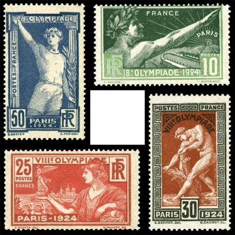 Frankreich: Nr. 183/186-neun ohne Scharnier.