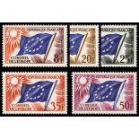 Serie di francobolli di servizio N ° 17 / 21Nuevo non linguellato