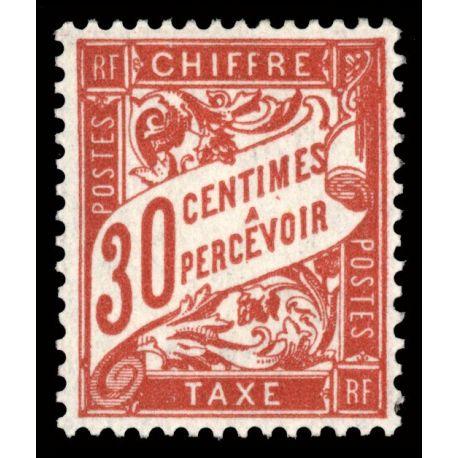 Timbre taxe France N° 33 neuf sans charnière