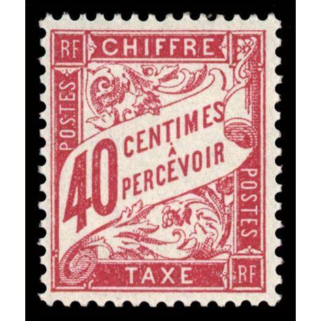 Timbre taxe France N° 35 neuf sans charnière