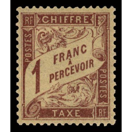 Timbre taxe France N° 40 neuf sans charnière