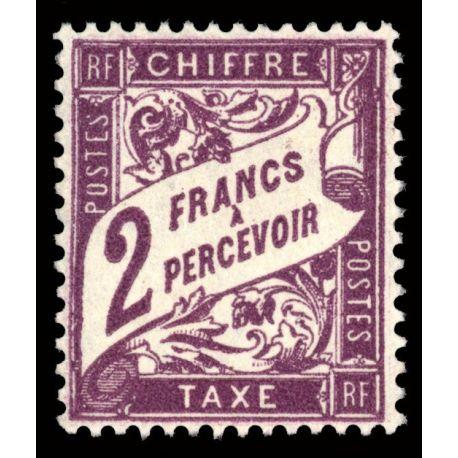 Timbre taxe France N° 42 neuf sans charnière