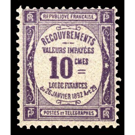Timbre taxe France N° 44 neuf sans charnière