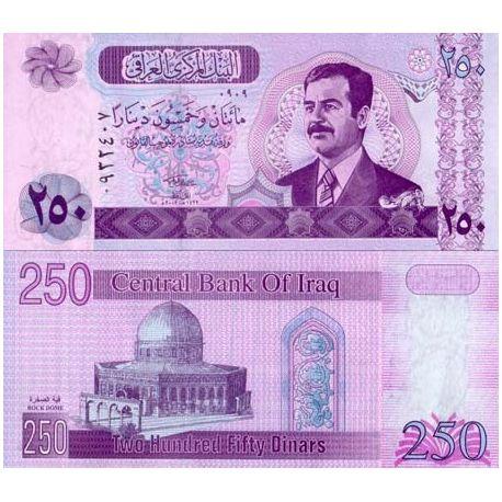 Billets de collection Billets de banque IRAK Pk N° 88 - 250 Dinars Billets d'Irak 1,50 €