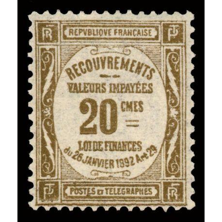 Timbre taxe France N° 45 neuf sans charnière