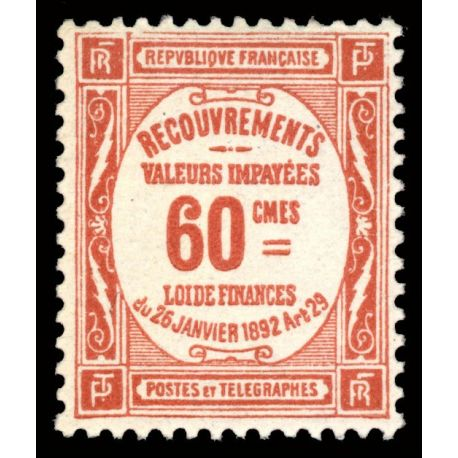 Timbre taxe France N° 48 neuf sans charnière