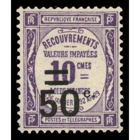 France Taxe N° 51 - Neuf(s) sans charnière