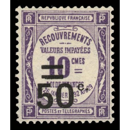Timbre taxe France N° 51 neuf sans charnière