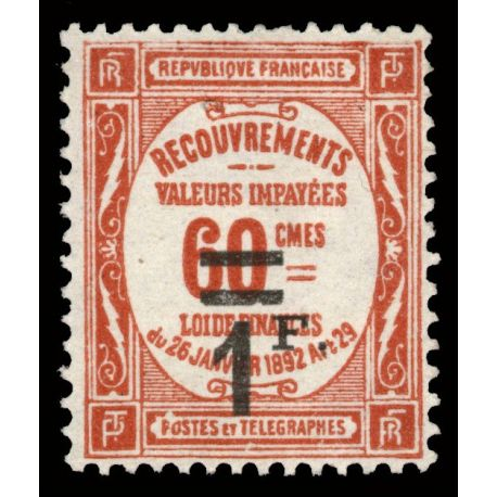Timbre taxe France N° 53 neuf sans charnière