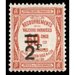 Französisch Porto N ° 54 Postfrisch