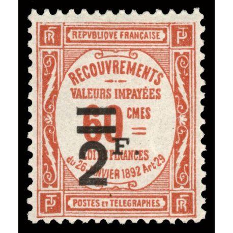 Timbre taxe France N° 54 neuf sans charnière