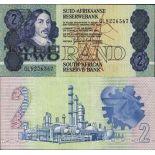 Precioso de billetes Sudáfrica Pick número 118 - 2 Rand 1973