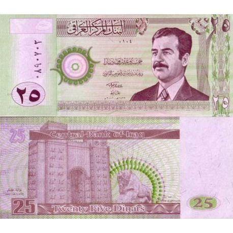 Billets de collection Billet de collection IRAK Pk N° 86 - 25 Dinars Billets d'Irak 2,00 €