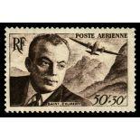 El correo aéreo francés sello N ° 21/22 nuevos sin charnela