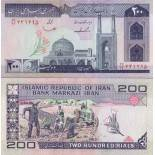 Banknoten Sammlung iran Pick Nummer 136 - 200 Rial
