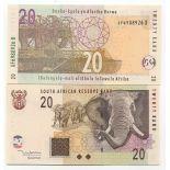 Collezione banconote Sudafrica Pick numero 129 - 20 Rand 2005