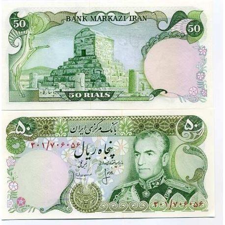 Billets de collection Billets de banque Iran Pk N° 101 - 50 Rials Billets d'Iran 8,00 €