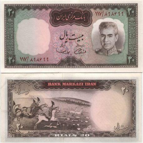 Billet de banque Iran Pk N° 84 - 20 Rials