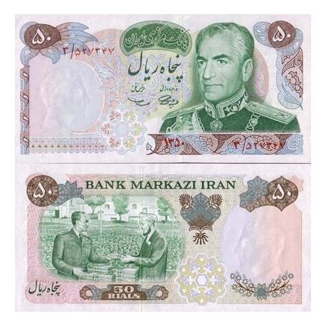 Billets de collection Billets de banque Iran Pk N° 97 - 50 Rials Billets d'Iran 11,00 €