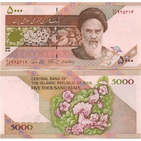 Billets de collection Billet de banque Iran Pk N° 145 - 5 000 Rials Billets d'Iran 2,00 €