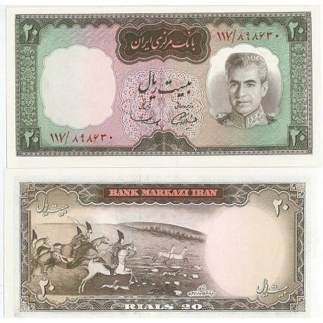 Billets de collection Billets de banque Iran Pk N° 78 - 20 Rials Billets d'Iran 10,00 €