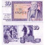 Billet de banque Islande Pk N° 48 - 10 Kronur