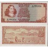 Banconote Sudafrica Pick numero 115 - 1 Rand 1973