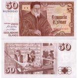 Banknoten Bank Island Pk Nr. 49 - 50 Kronur